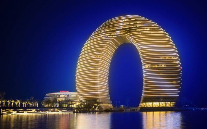 Sheraton Huzhou Hot Spring Resort is one of the most unusual hotels in China.
