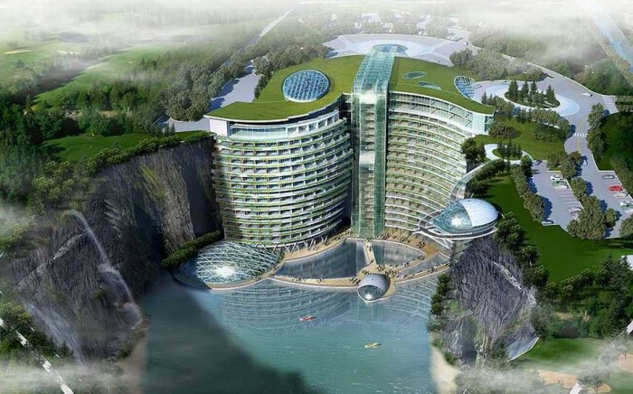 Songjiang Shimao hotel in Shanghai is one of the most unusual hotels in China.