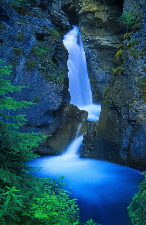 Impressive waterfalls around the world - Johnston Canyon Falls in Banff in Canada