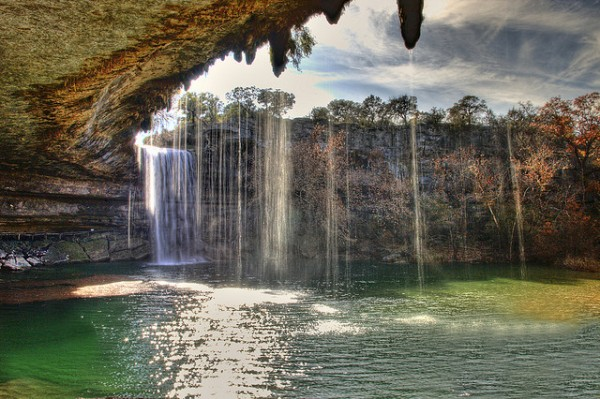 Hamilton pool in Texas is one of the best swimming holes in America.