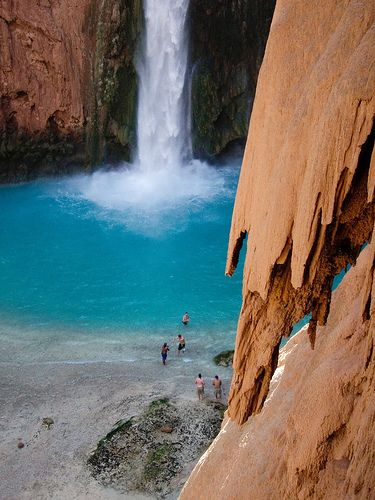 Havasu Falls in Arizona is one of the best swimming holes in America.