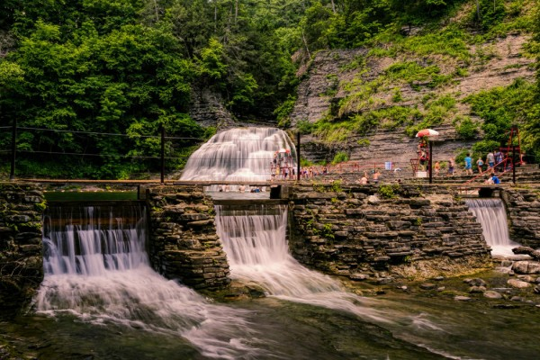 Lower falls in Ithaca in New York is one of the best swimming holes in America.