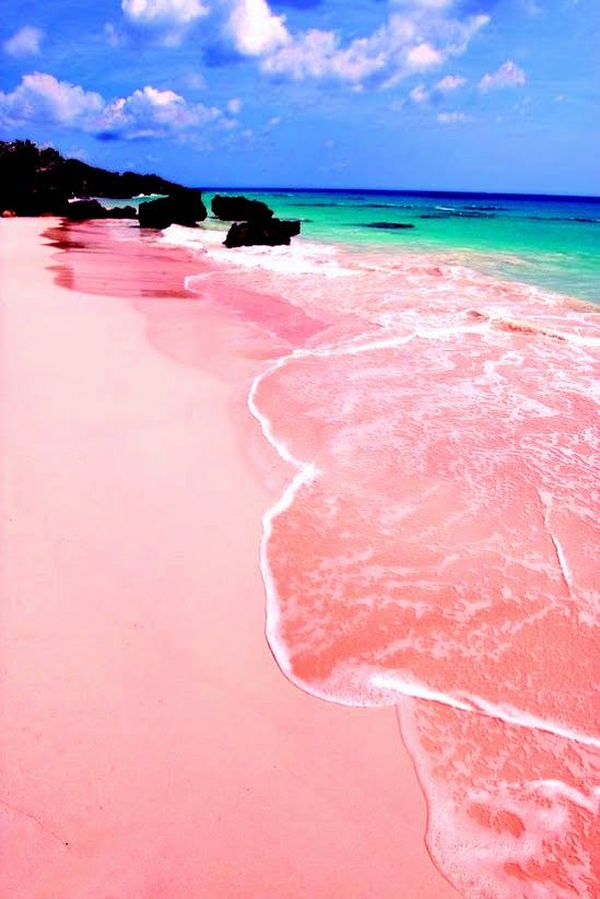 Pink sand beach in Bermuda is one of the 10 best beach getaways.