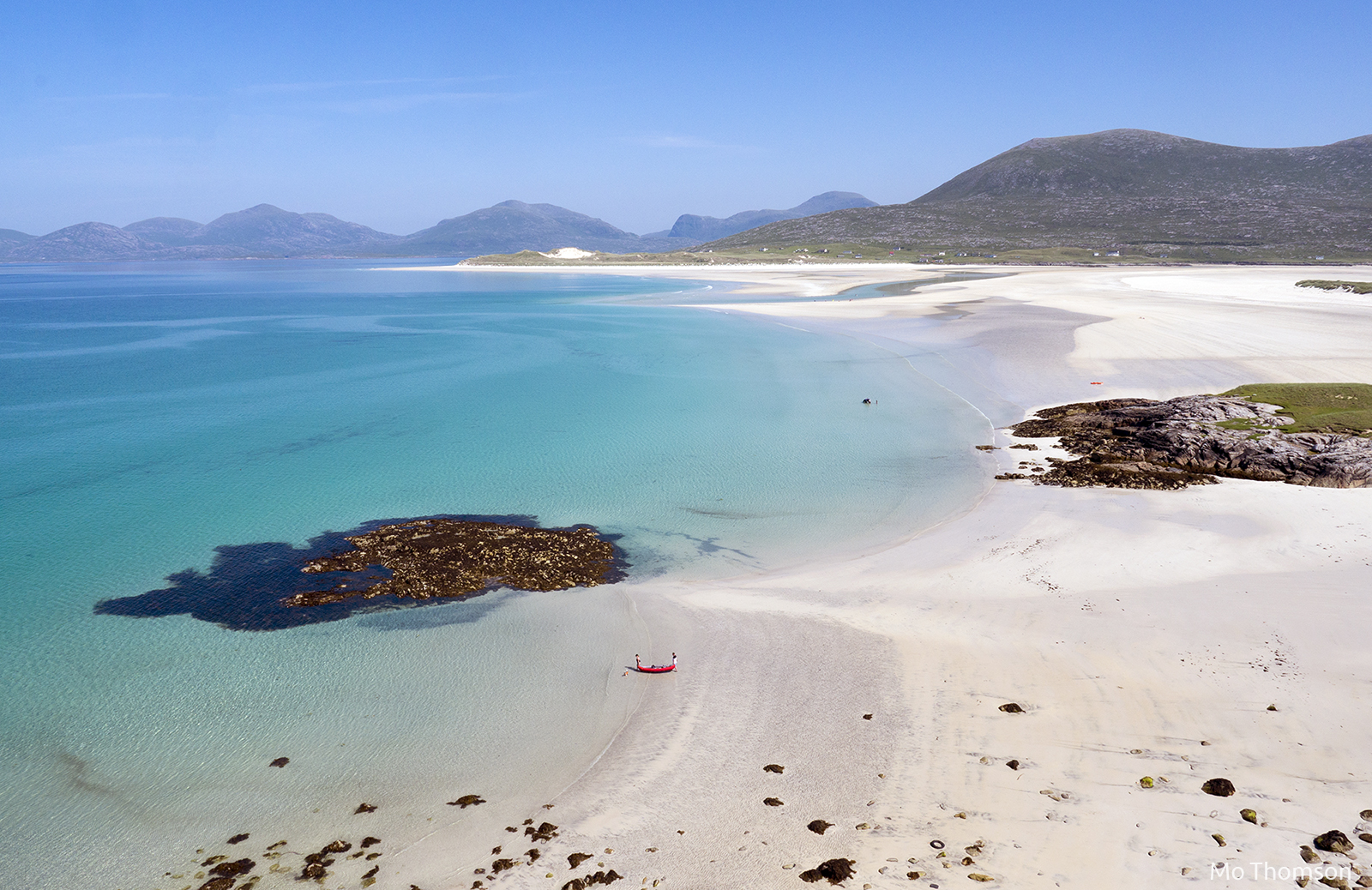 Luskentyre beach in Scotland is one of the 10 best beach getaways this year.