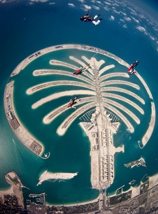 Palm islands in Dubai are one of the most spectacular man-made constructions in the world.