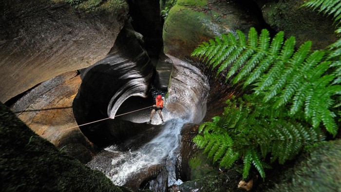 The Blue Mountains region is home to many Australia's slot canyons.