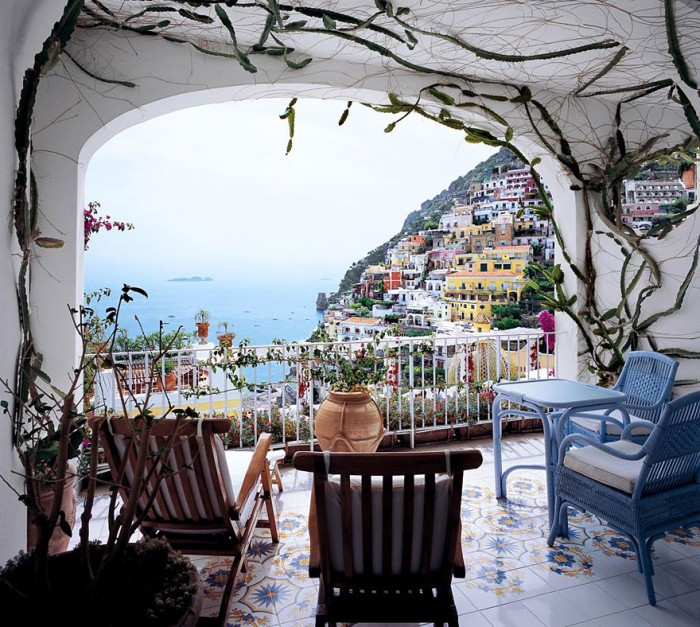 Best hotel rooms with an amazing view in Amalfi coast in Italy.