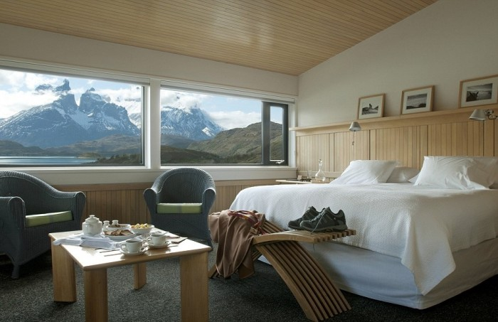 Best hotel rooms with a view in Patagonia, Chile.