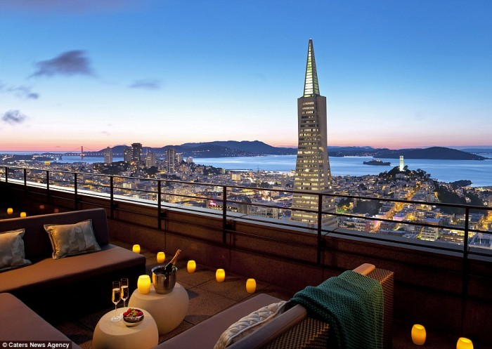 Best hotel rooms with a view in San Francisco in the USA.