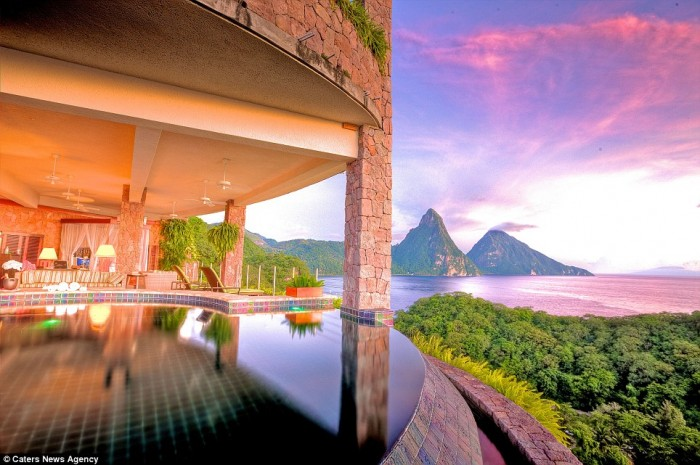 Best hotel rooms with a view in St. Lucia.