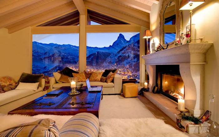 Best hotel rooms with a view from in Zermatt in Switzerland.