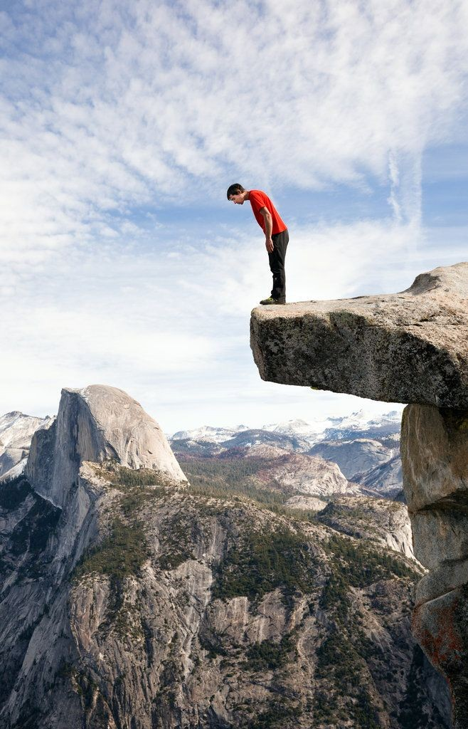 Alex Honnold, a master of climbing without ropes is definitely not afraid of heights.