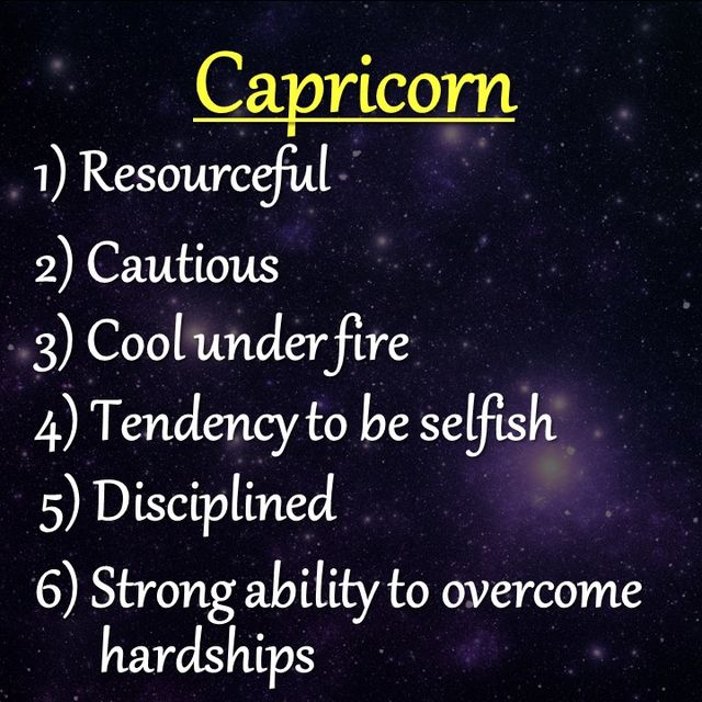 Capricorn male personality traits