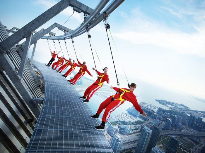 If you are not afraid of heights try edgewalk at the CN Tower in Toronto.