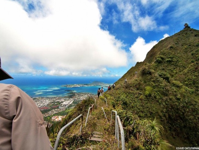 Haiku stairs is one of the most popular hiking trails in the world.