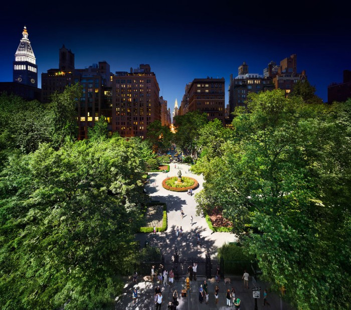 Stephen Wilkes Photography - Gramercy park in NYC