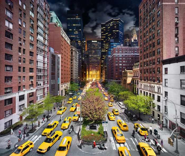 Stephen Wilkes Photography - Park Avenue in NYC