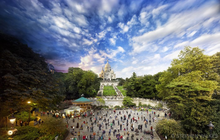 Stephen Wilkes Photography - Sacre Coeur in Paris
