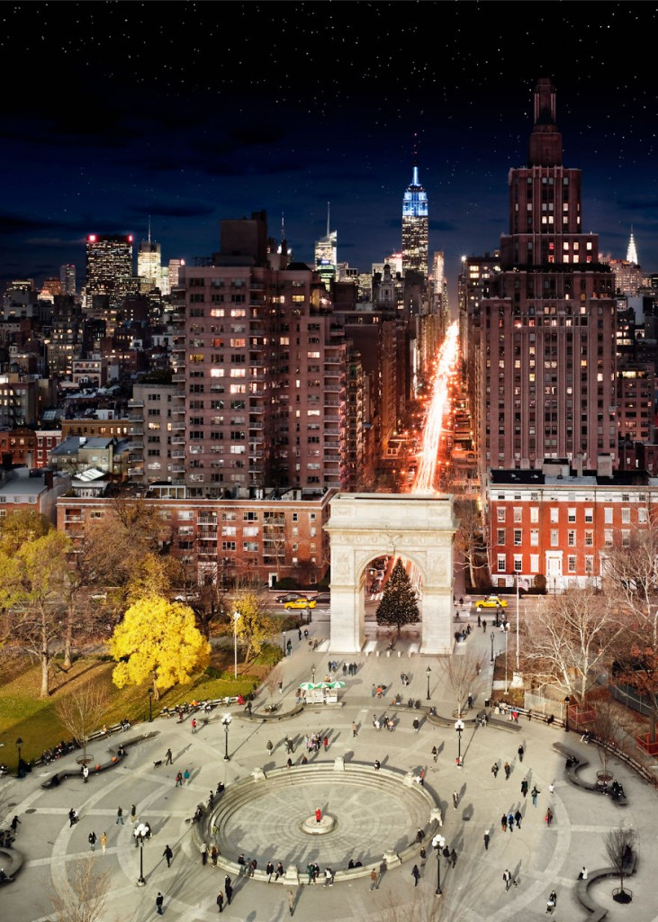 Washington Square in NYC is one of the locations Stephen Wilkes chose for his latest project Day to Night.