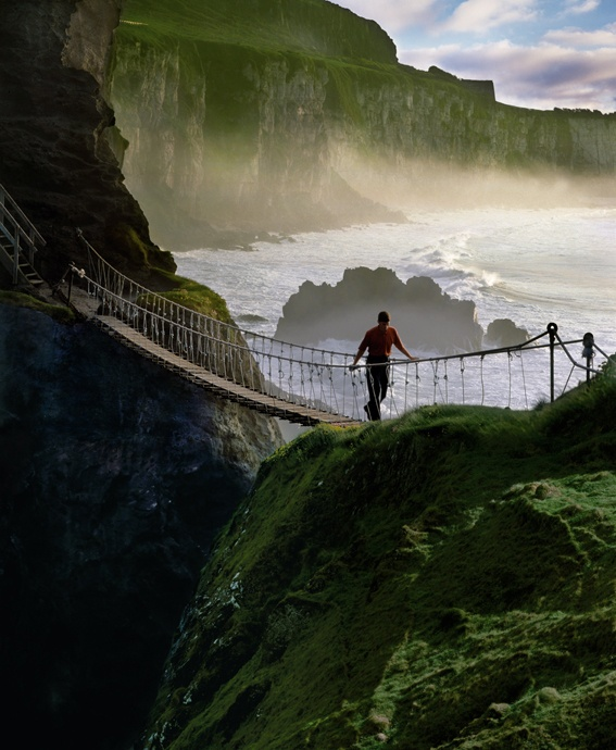 Are you brave enough to walk on Carrick-a-rede hanging bridge?