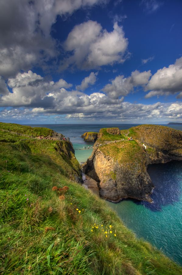 Carrick-a-rede hanging bridge is one of the most terrifying bridges in Europe.