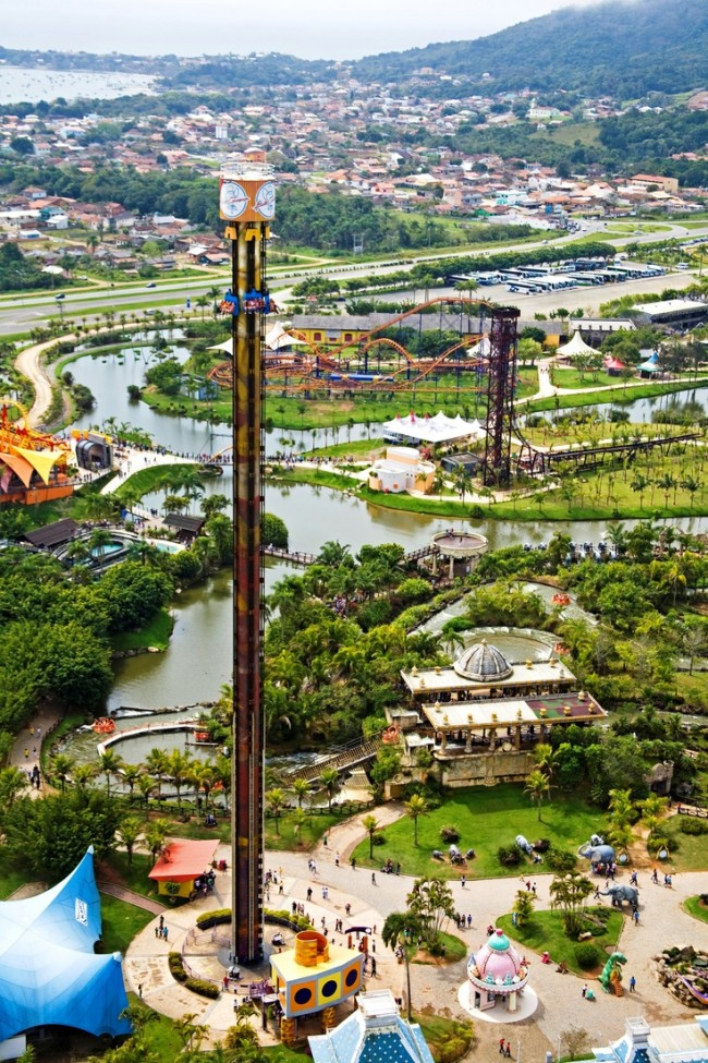 Beto Carrero World in Brazil is one of the 20 most checked-in locations on Facebook.