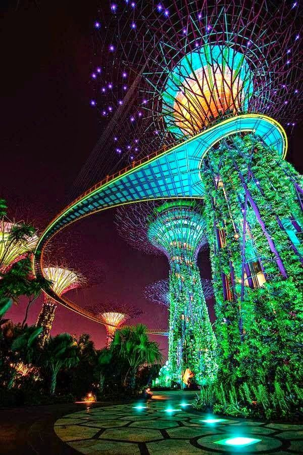 Gardens by the Bay in Singapore is one of the 20 most checked-in places on Facebook in 2015.