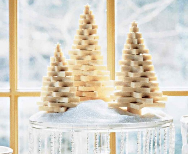 Miniature Christmas tree is one of many creative DIY holiday decorations that you can actually eat.