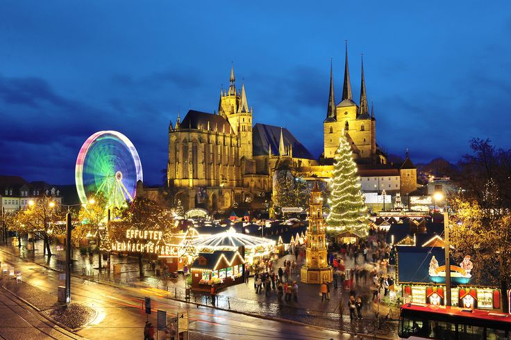 Erfurt market in Germany is one of the best Christmas markets in Europe.