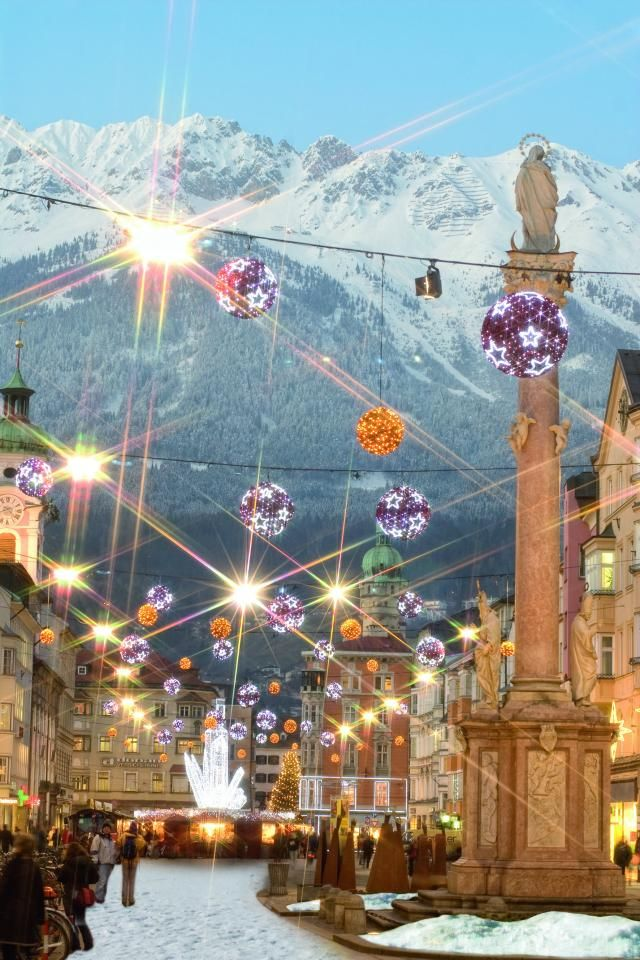 Get into the holiday spirit, visit one of the best Christmas markets in Europe-Innsbruck.