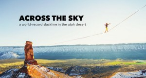 Théo Sanson walked a 500-meter-long slackline above the Utah desert.