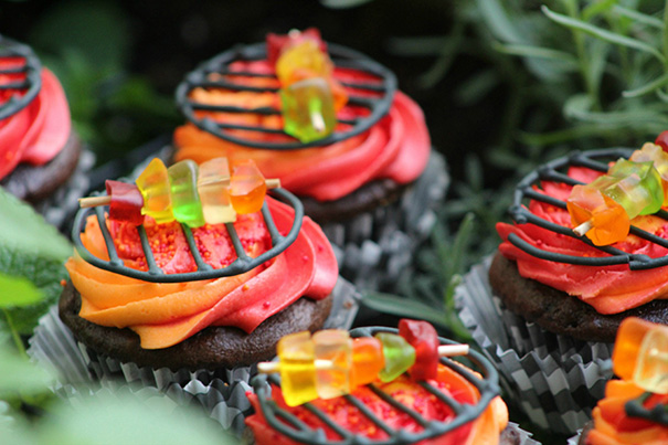Grill cupcakes are unique and impressive cupcakes