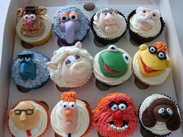 Muppets cupcakes are so funny.