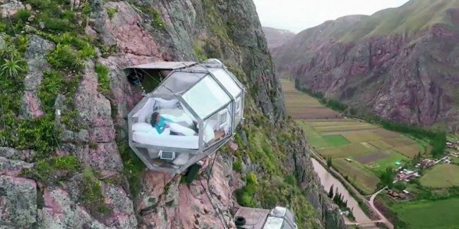 Skylodge Sdventure Suite is the scariest hotel room in the world.