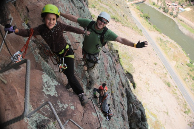 You can get to the scariest hotel room in the world using via ferrata.