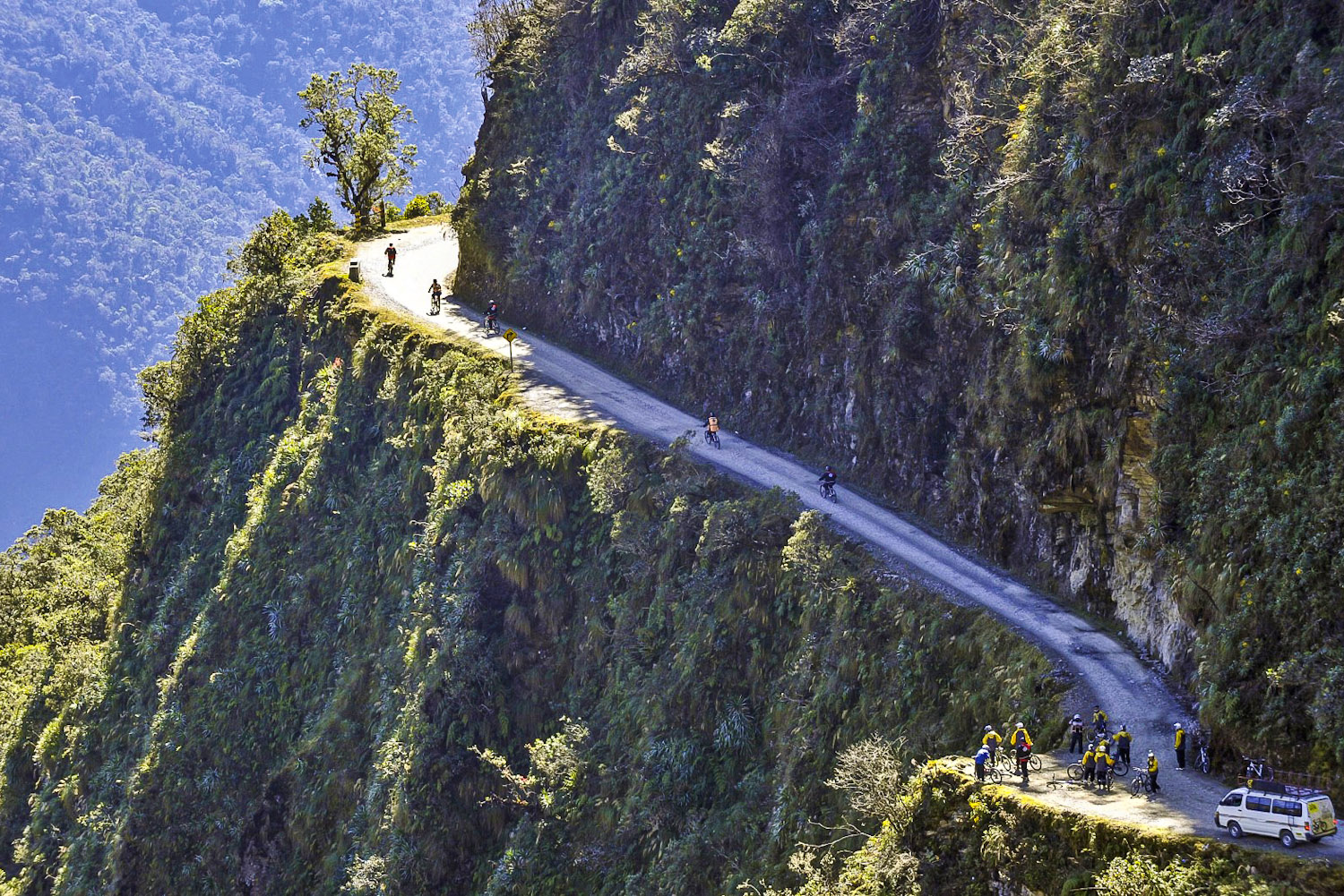 Yungas Road in Bolivia is one of the world's 10 scariest roads.