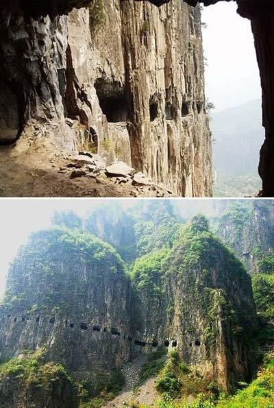 Guoliang Tunnel in China is one of the world's 8 scariest roads.