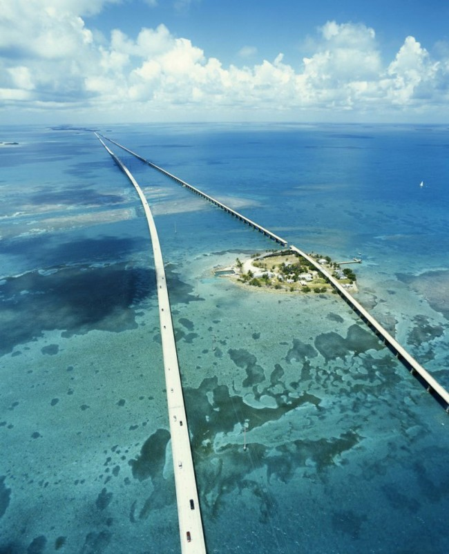 Seven Miles Bridge in Florida Keys is one of the most beautiful roads in the world.