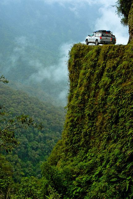Yungas Road in Bolivia is one of the world's 8 scariest roads.