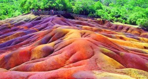 Seven Colored Earth of Chamarel is located in southwest Mauritius.