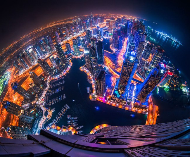 Amazing fisheye view of Dubai captured by Albert Dros