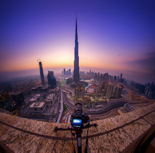 Incredible fisheye view of Dubai captured by Albert Dros.