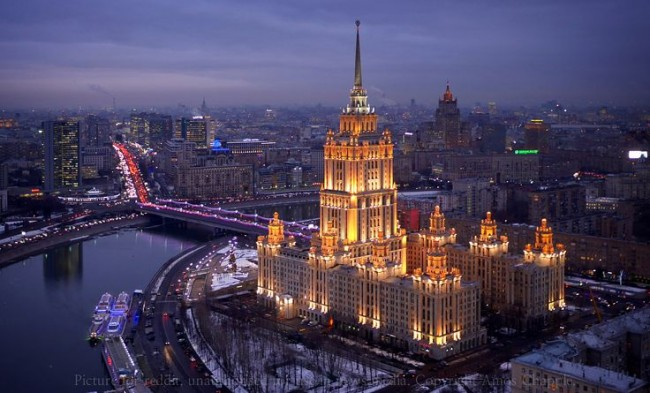 Moscow looks amazing at dusk.