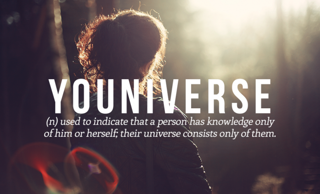 YOUNIVERSE is eighth on the list of the 20 cool and funny words from the urban dictionary.
