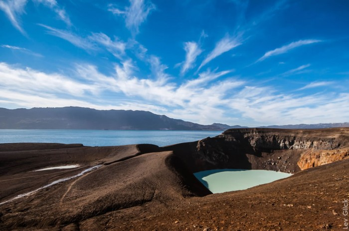 One of the most incredible crater lakes on earth is Viti lake in Iceland.