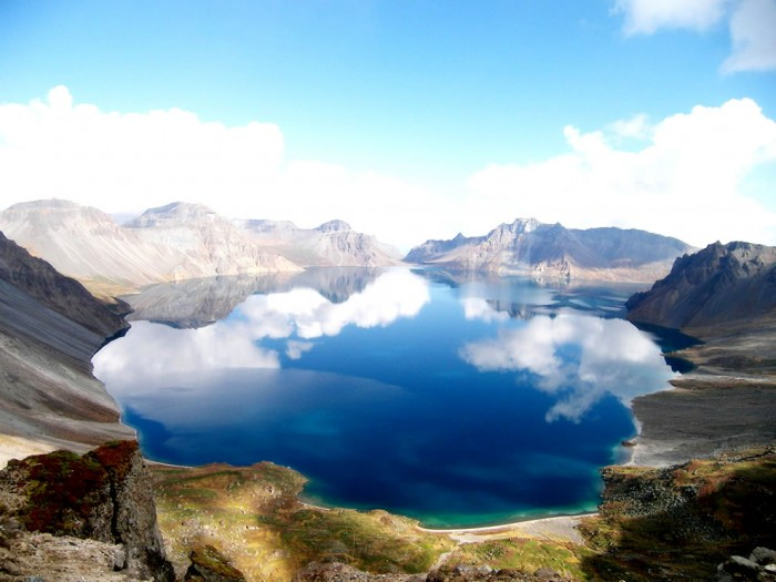 Heaven Lake in China is one of the most incredible crater lakes on earth.