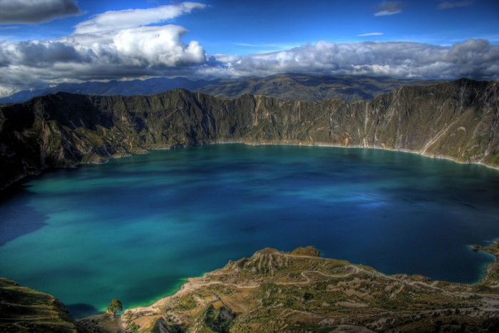 Lake Quilotoa in Ecuador is one of the most incredible crater lakes on earth.