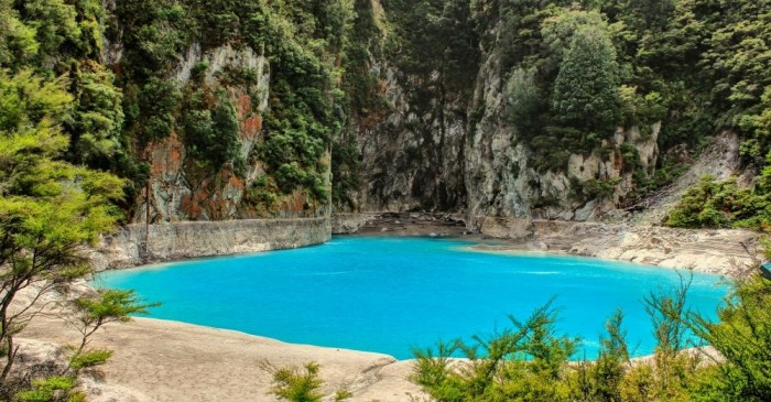 Waimangu volcanic alley in New Zealand is one of the most incredible crater lakes on earth.