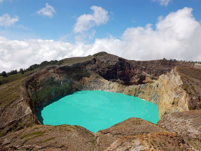 Kelimutu in Indonesia is one of the most incredible crater lakes on earth.