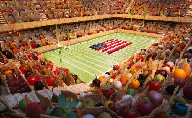 Wheat Thins Stadium is one of the most incredible landscapes made of food by Carl Warner.